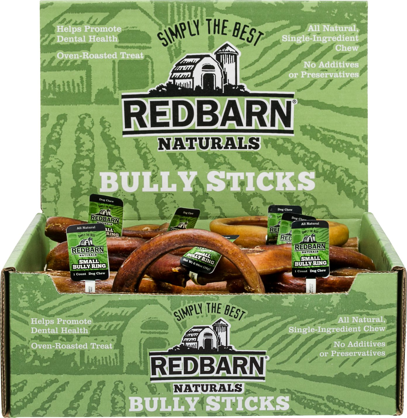redbarn naturals bully rings dog treats small case of 35. Black Bedroom Furniture Sets. Home Design Ideas