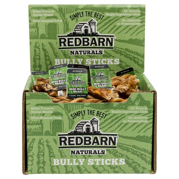 redbarn naturals mini braided bully sticks dog treats case of 75. Black Bedroom Furniture Sets. Home Design Ideas