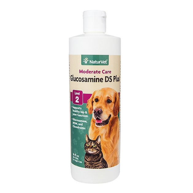Naturvet Glucosamine Ds With Msm Chondroitin Hip Joint Stage 2 Formula Dog Cat Liquid Supplement