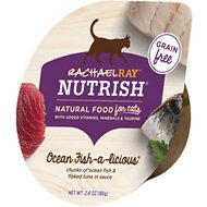 Rachael Ray Nutrish Ocean Fish-A-Licious Natural Grain-Free Wet Cat Food, 2.8-oz, case of 24