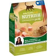 Rachael Ray Nutrish Natural Chicken & Brown Rice Recipe Dry Cat Food, 6-lb bag