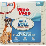 Wee-Wee Pads on a Roll for Dogs, 50-count