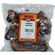 Smokehouse USA Porky Bones Dog Treats, 4 pack