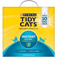 Tidy Cats Scoop Instant Action Immediate Odor Control Cat Litter, 40-lb box