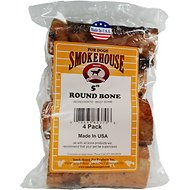 "Smokehouse USA 5"" Round Marrow Bone Dog Treats, 5-in chew, 4 pack"