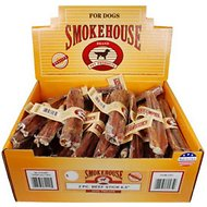 "Smokehouse USA 6.5"" Steer Pizzle Dog Treats, 2 pack, case of 50"