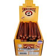 "Smokehouse USA 8"" Pepperoni Stix Dog Treats, Case of 60"