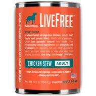 Dogswell LiveFree Chicken Stew Grain-Free Adult Canned Dog Food, 12.5-oz, case of 12