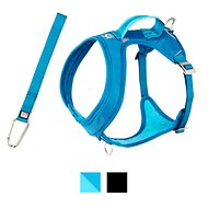 Kurgo Go-Tech Adventure Dog Harness with Seatbelt Loop, Blue, Medium