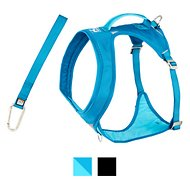 Kurgo Go-Tech Adventure Dog Harness with Seatbelt Loop, Blue, X-Large