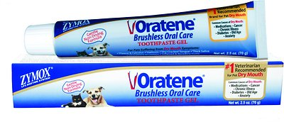 Oratene Brushless Enzymatic Oral Care Therapy Dental Gel for Dogs & Cats, 2.5-oz tube