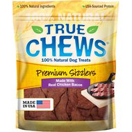 True Chews Premium Sizzlers with Real Chicken Bacon Dog Treats, 12-oz bag