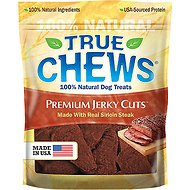 True Chews Premium Jerky Cuts with Real Sirloin Steak Dog Treats, 22-oz bag