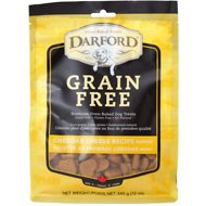 Darford Baked Cheddar Cheese Recipe Grain-Free Mini Dog Treats, 12-oz bag