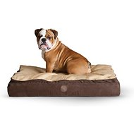 K&H Pet Products Feather-Top Ortho Pet Bed, Chocolate, Large