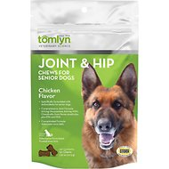 Tomlyn Joint & Hip Chews with MSM and Glucosamine for Senior Dogs, 30-count