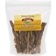 "Ferrera Farms 6"" Braided Bully Sticks Dog Treats, 12 chews"