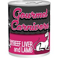 Tiki Dog Gourmet Carnivore Beef, Liver & Lamb Grain-Free Canned Dog Food, 12-oz, case of 12