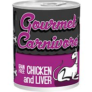 Tiki Dog Gourmet Carnivore Chicken & Liver Grain-Free Canned Dog Food, 12-oz, case of 12