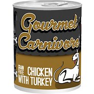 Tiki Dog Gourmet Carnivore Chicken with Turkey Grain-Free Canned Dog Food, 12-oz, case of 12