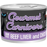 Tiki Cat Gourmet Carnivore Beef Liver & Chicken Grain-Free Canned Cat Food, 6-oz, case of 8