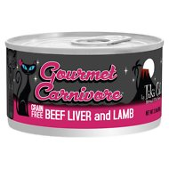 Tiki Cat Gourmet Carnivore Beef Liver & Lamb Grain-Free Canned Cat Food, 2.8-oz, case of 12