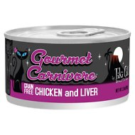 Tiki Cat Gourmet Carnivore Chicken & Liver Grain-Free Canned Cat Food, 2.8-oz, case of 12