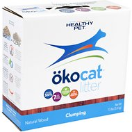 Okocat Natural Wood Clumping Cat Litter, 7.5-lb box