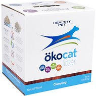 Okocat Natural Wood Clumping Cat Litter, 18-lb box