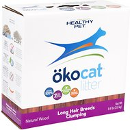 Okocat Natural Wood Long Hair Breeds Cat Litter, 8.4-lb box