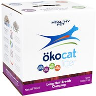 Okocat Natural Wood Long Hair Breeds Cat Litter, 20.2-lb box