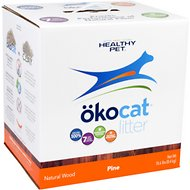 Okocat Natural Wood Pine Cat Litter, 18.6-lb box