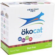 Okocat Natural Paper Dust Free Cat Litter, 5.1-lb box
