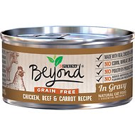 Purina Beyond Grain-Free Chicken, Beef & Carrot Recipe in Gravy Canned Cat Food, 3-oz, case of 12