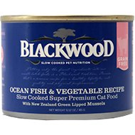 Blackwood Ocean Fish & Vegetable Recipe Grain-Free Canned Cat Food, 6.52-oz, case of 24