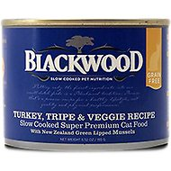 Blackwood Turkey, Tripe & Veggie Recipe Grain-Free Canned Cat Food, 6.52-oz, case of 24