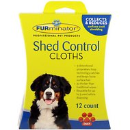 FURminator Shed Control Dog Cloths, 12-count box