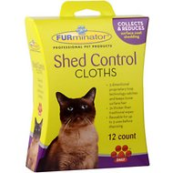 FURminator Shed Control Cat Cloths, 12-count box