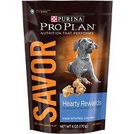 Purina Pro Plan Savor Hearty Rewards with Real Chicken Dog Treats, 6-oz bag