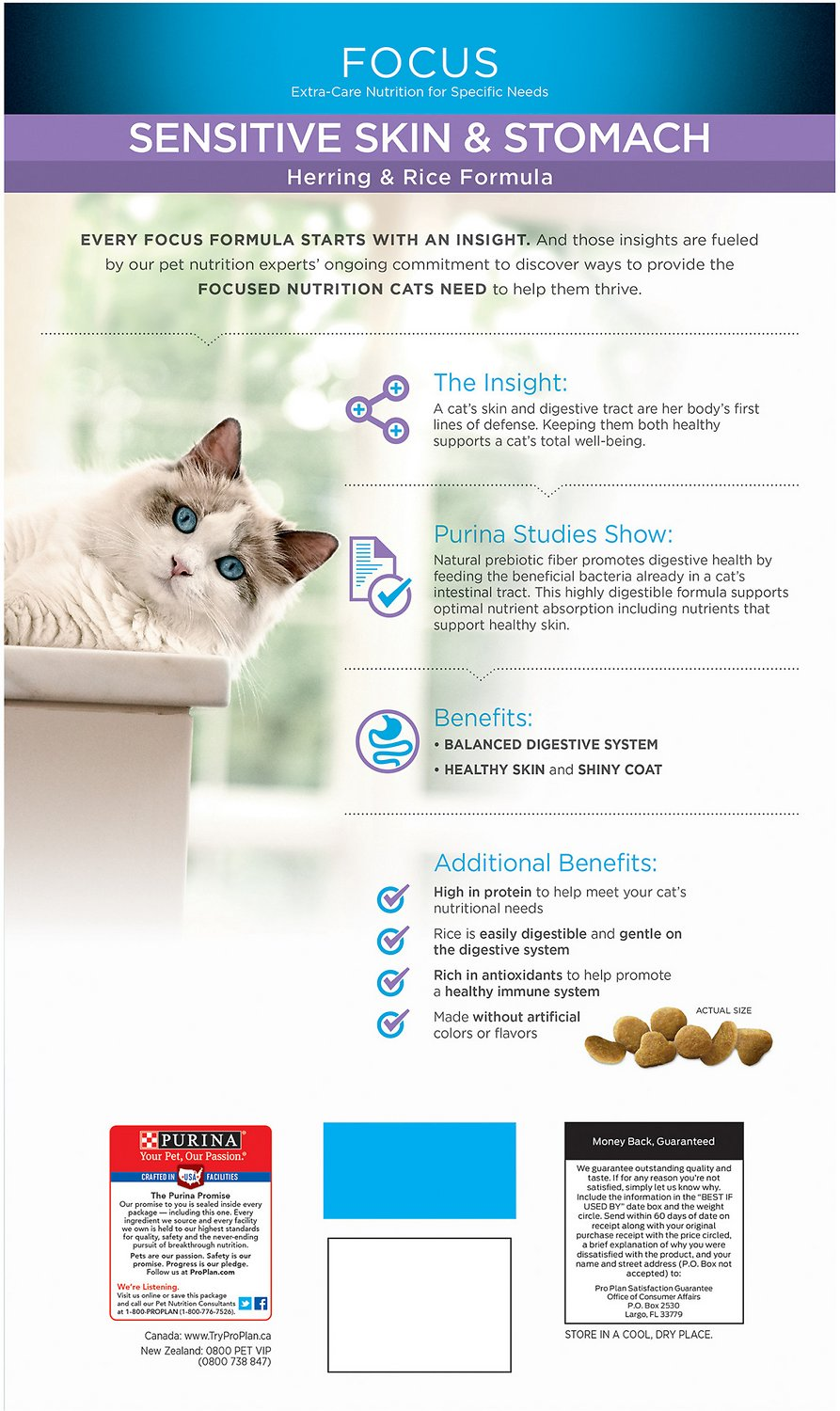 purina pro plan sensitive skin and stomach cat