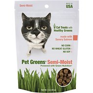 Bellrock Growers Pet Greens Savory Salmon Semi-Moist Cat Treats, 3-oz bag