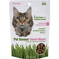 Bellrock Growers Pet Greens Turkey & Duck Semi-Moist Cat Treats, 3-oz bag