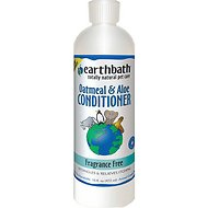 Earthbath Oatmeal & Aloe Fragrance Free Dog & Cat Conditioner, 16-oz bottle