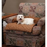 Solvit Bolstered Sta-Put Seat Protector for Pets, Cocoa, Medium