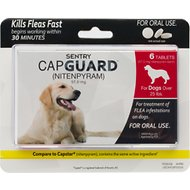 Sentry Capguard Oral Flea Tablets for Dogs (over 25 lbs), 6 treatments