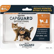 Sentry Capguard Oral Flea Tablets for Dogs & Cats (2 to 25 lbs), 6 Treatments, Cat