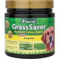 NaturVet GrassSaver Plus Enzymes Dog Soft Chews, 120 count