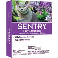 Sentry PurrScriptions Flea & Tick Squeeze-On for Cats Over 5lb