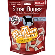 SmartBones Small PlayTime Chicken Chews Dog Treats, 10 pack