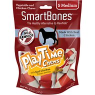 SmartBones Medium PlayTime Chicken Chews Dog Treats, 5 pack